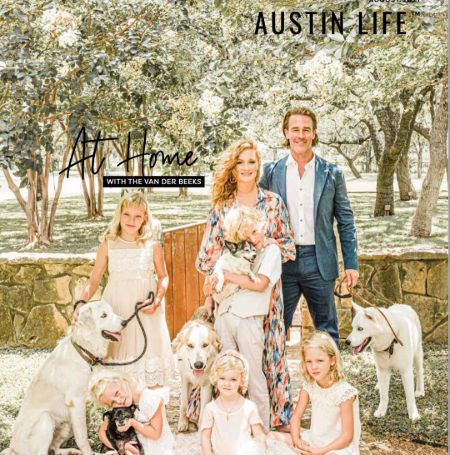 Kimberly Brook With Her Husband And Five KIds