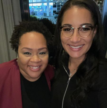 Yamiche Alcindor With Her Work Colleague